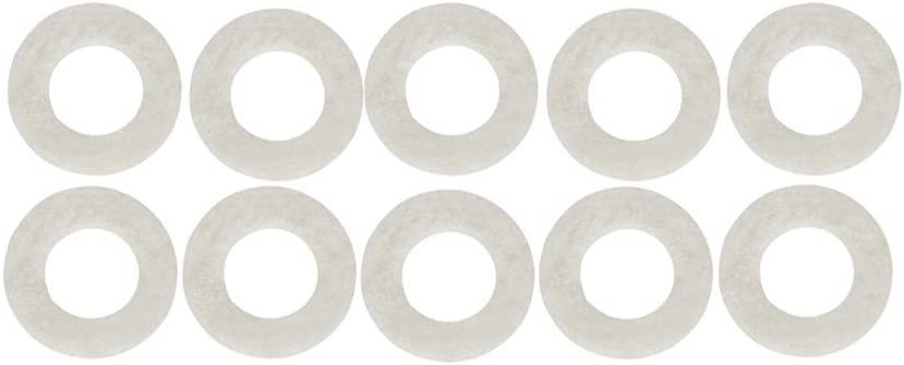 AKDSteel 10Pcs White Trumpet Press Pads for Trumpet Repair Replacement Parts for CE Accessories