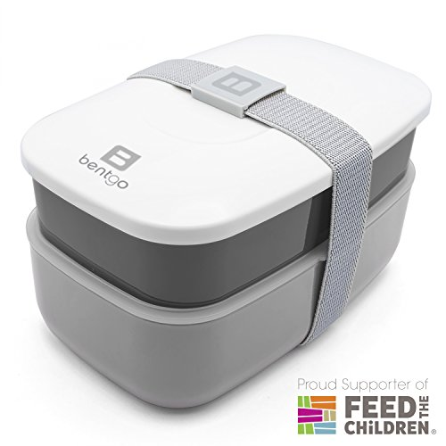 Bentgo All-in-One Stackable Lunch/Bento Box, Grey by Bentgo (Image #4)