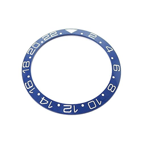 Gmt White Ceramic (Bezel Insert To Fit Rolex Women's GMT - Blue / White Ceramic)