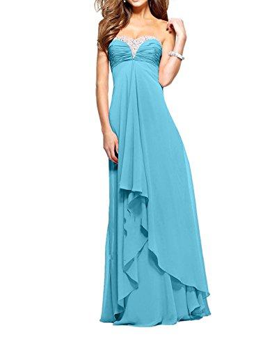 Ballkleider wassermelon Damen Abendkleider Charmant Promkleider Partykleider Blau Pailletten langes Lang Festlich YAdRwRx