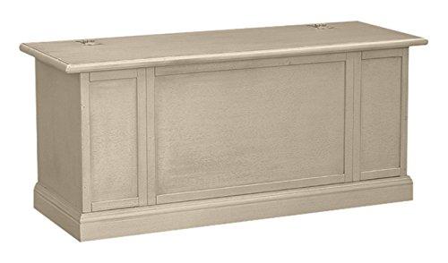 Pieffe Mobili Bolognese Cassapanca, Legno, Bianco decape', 120x35x45 cm Bianco decape' AM010102