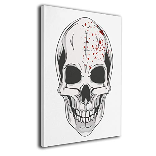 Hateone Halloween Skull Logo Colorful 16 X 20 Inch Unframed Decorative Painting Canvas Wall Art Hanging Picture Artwork Wall Decoration for Living Room Bedroom Home Decor]()