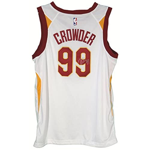 the latest 168af f155d Jae Crowder Cleveland Cavaliers Signed Autographed White #99 ...