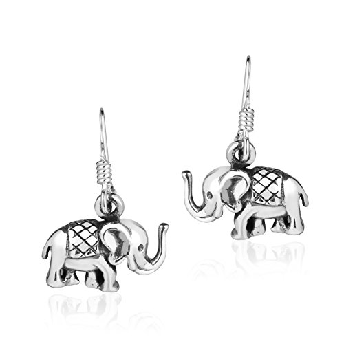 Mini Royal Thai Elephant .925 Sterling Silver Earrings