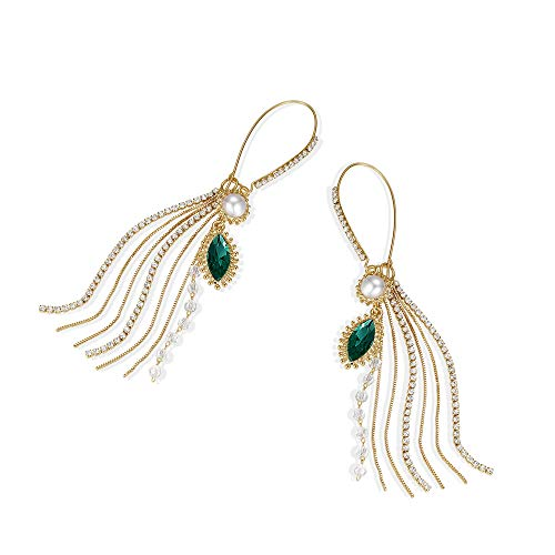 (Drop Quality Pearl Earrings for Women Bronzed Fashionable Girl Jewelry Hoop Earrings)