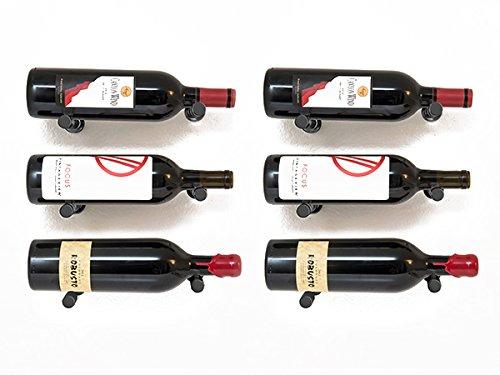 - 6 Bottle Vino Pin Designer Kit with Collars in Satin Black