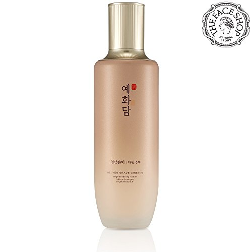 The Face Shop Yehwadam Heaven Grade Ginseng Regenerating Toner, Premium Skin Care, Traditional Korean Herbs And Ginseng For Anti-Aging Treatment (155mL/5.24 Oz)