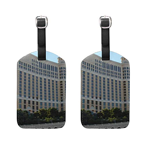 - Andrea Back Custom Luggage Tags - Bag Tag Name ID Set for Suitcase, Baggage Las Vegas Bellagio Hotel Beautifully 2 Pieces