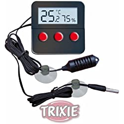 Trixie Digital Thermo/Hygrometer With Remote Sensor - For Precise Monitoring Of The Temperature And Air Humidity In The Terrarium