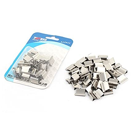 Amazon.com : eDealMax Metal Sujetador de Papel de almeja Clips de grapas Dispenser tono de Plata 100pcs : Office Products