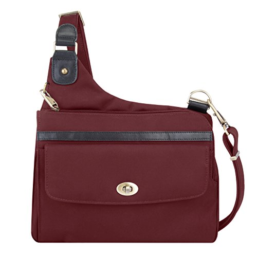 Travelon Anti-Theft Ltd Crossbody Messenger, Wine