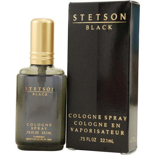Stetson Black by Coty Cologne Spray for Men, 0.75 Ounce ()