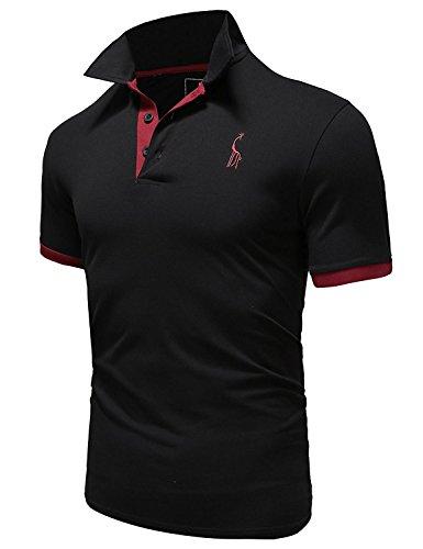 懐疑論ペースト謝るGlestore(グラストア) ポロシャツ メンズ 半袖 作業着 夏 無地 ゴルフウェア#MT1030
