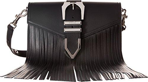 Versus Versace Women's Clutch+Fringes Vitello Opaco Black/Nickel One Size by Versus Versace