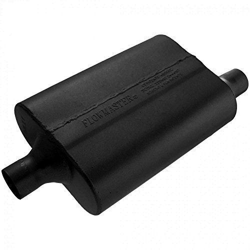 Flowmaster 942042 40 Delta Flow Muffler - 2.00 Center IN / 2.00 Offset OUT - Aggressive Sound ()