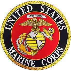 USMC, United States Marine Corps Logo - Embroidered Novelty Patches, Iron On Patch - 8
