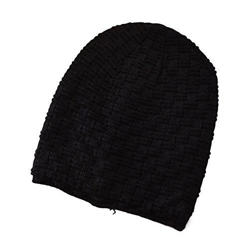 Ukallaite Our Fashion Century Hip Hop Casual - Gorro de esquí para Hombre, Color Liso y cálido, Light Coffee negro