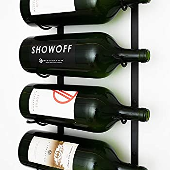 Amazoncom Large Format Bottle Metal Hanging Wall Mounted Wine