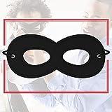 Superhero Masks, Black Felt Eye Masks, Adjustable