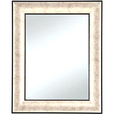 Alpine Art & Mirror 5131A Isles Trim Wall Mirror, 29 by 35-Inch, Silver