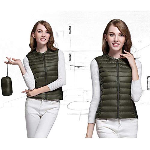 Inverno Cappuccio Piumino Maniche Large Green Donna Adulto Corto Leggero Sottile Size Da Army Casual Senza 0107xBa