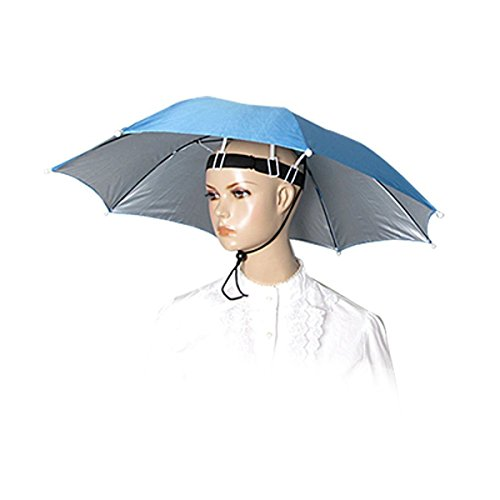 Saim sky blue polyester 26 diameter 8 ribs fishing sun for Fishing hats walmart