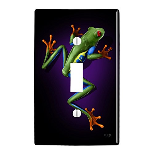 - Graphics and More South American Tree Frog Neon Plastic Wall Decor Toggle Light Switch Plate Cover