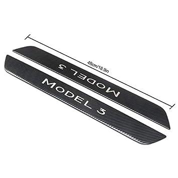 Einstiegsleisten Dekoration lesgos Einstiegsleisten F/ür Tesla Model 3 2 Sets Carbon//Edelstahl Kratzfest Vordert/ürkantenschutz F/ür Tesla Model 3