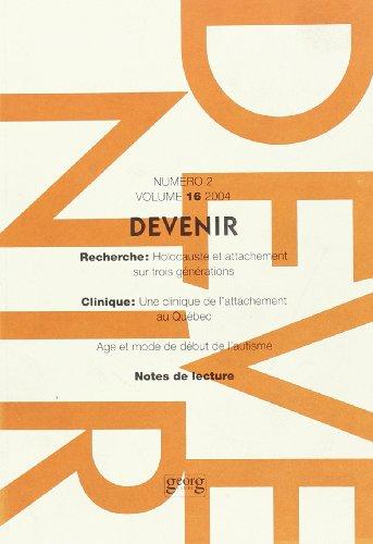 Devenir, volume 16, numéro 2, 2004