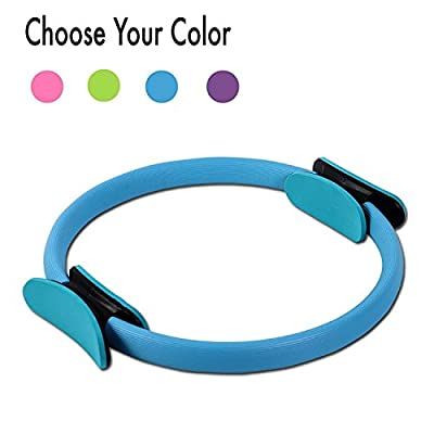 Fitwhiz Pilates Ring - Toning, Sculpting, Strength and Flexibility, Power Resistance Exercise Circle, Thigh Toner, Fitness Magic Circle, 13 Inch Dual Grip Ring