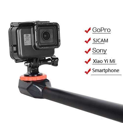 Underwater Pistol Swivel Handle Grip Pole - 180 Degree Rotating Camera Selfie Stick and Monopod Mount for All Gopro Action Camera and Smartphone