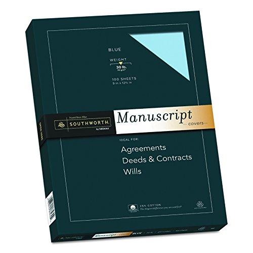 Southworth 25% Cotton Paper Blue Manuscript Covers, 9
