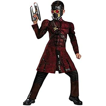 Disguise Marvel Guardians of The Galaxy Star-Lord Classic Muscle Boys Costume, Small/4-6