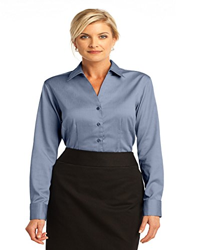 Red House Ladies French Cuff Non-Iron Pinpoint Oxford-X-Large-Blue
