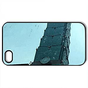 101-storey building - Case Cover for iPhone 4 and 4s (Modern Series, Watercolor style, Black)