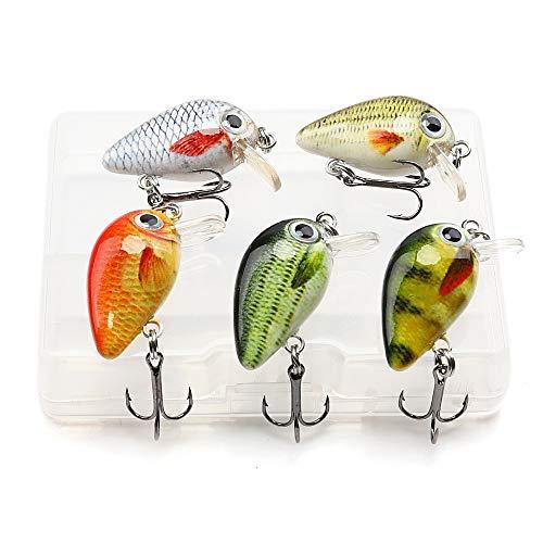 VTAVTA Mini Crankbaits Set for Bass Fishing Lures Hard Baits Swimbaits Topwater Lures Kit Fishing Tackle for Trout Bass Perch Fishing Lures Kit (Mini Crankbaits -3)