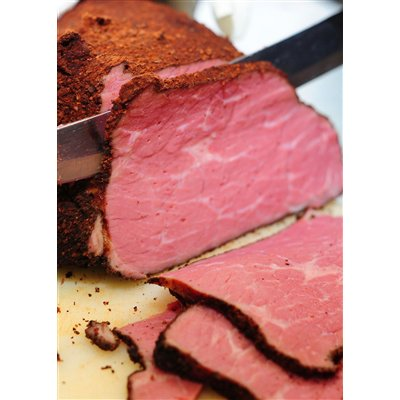Beef Pastrami, Unsliced, Frozen - 5-7# avg (Pack of 2) by Continental Sausage