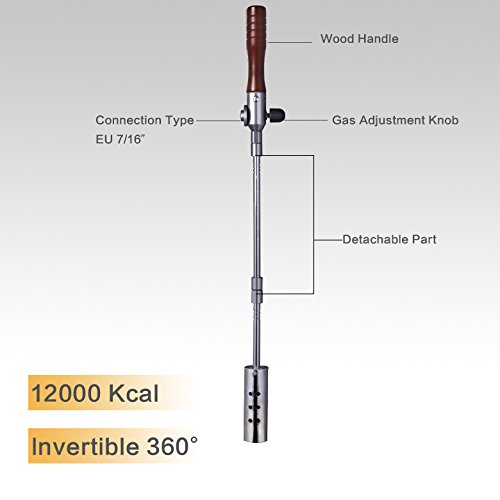 All Splendid Outdoor Blow Torch-Garden Torch-Weeds Killer-Burner Blaster-Outdoor Blow Torch-Weed Burner-with Anti Flare System-with an Adapter