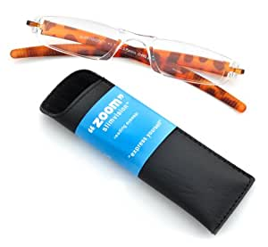 ICU Eyewear Zoom SlimVision +1.25 Magnification Reading Glasses (08651 Tortoise)