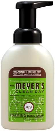 Mrs. Meyer's Foaming Hand Soap, Apple, 10 Fluid Ounce