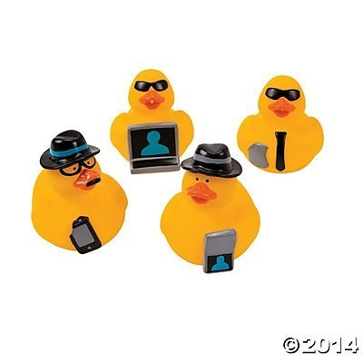 Secret Agent Rubber Ducks - 12 pcs: Toys & Games