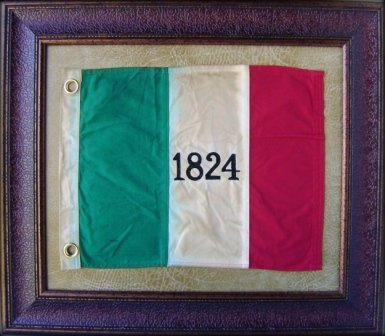 ALAMO FLAG 1824 - HISTORIC ART - WITH GROMMETS - 27X31''