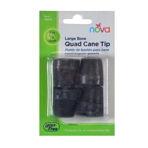 Tips for Large Quad Cane - Black - 4 Each/Each - 50015BK by NOVA Medical Products