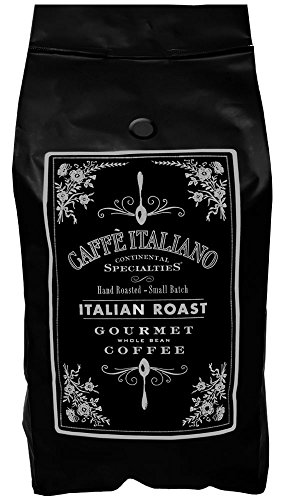 Intenso Whole Bean - Gourmet Whole Bean Coffee Blend, Italian Roast, Hand Roasted, Small Batch, 5-Pound Bag