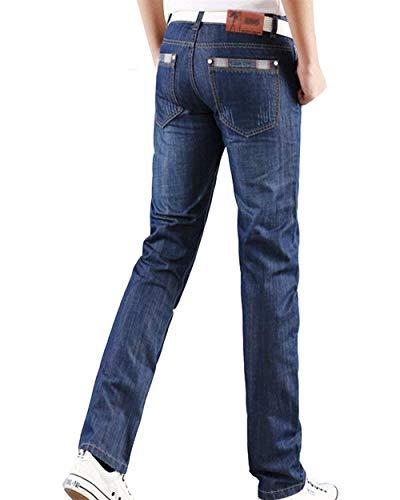 Fit Jeans Denim Dritta Da Moda In Retrò Gamba Dunkelblau1 A Base Regular Di Pantaloni Uomo Slim Casual Alla qxRHdfR8