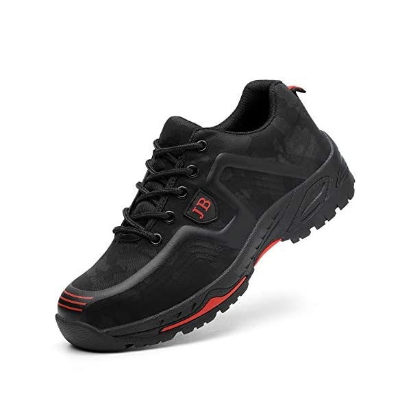 ESDY Steel Toe Shoes Men Work Safety Shoes Composite Protect Toe for Industrial&Construction