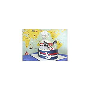 Amazon.com: Nautical Boat Diaper Cake for Baby Boy / Baby
