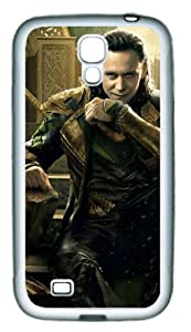 Loki in Thor 2 The Dark World TPU Rubber Material White Skin Case for Samsung Galaxy S4 I9500 Customized by Hahashopping