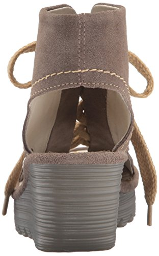 FLYA4 004 Heels Beige Sandals Fly Taupe London Mujer para Yaba702fly qwzrwWtg