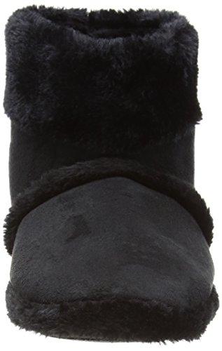Coolers Herren Plüsch-Pantoffeln, Größe 41 - 46 (EU) / 7 - 12 (UK) Schwarz - Schwarz